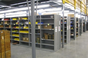 lyon 8000 series closed shelving first level shelving installed